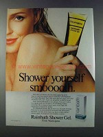 1981 Neutrogena Rainbath Shower Gel Ad - Shower Smooth