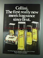 1981 Faberge Cellini Cologne Ad - First New Fragrance
