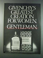 1981 Givenchy Gentleman Eau de Toilette Ad - Greatest