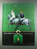 1981 Polo Ralph Lauren Cologne Ad - In Polo Tradition