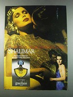 1981 Guerlain Shalimar Perfume Ad - As Close To Forever