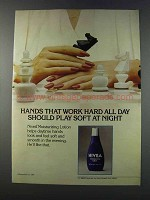 1981 Nivea Moisturizing Lotion Ad - Hands Work Hard