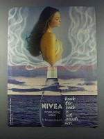 1981 Nivea Moisturizing Lotion Ad - Inside This Bottle
