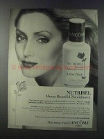 1981 Lancome Nutribel Nourishing Hydrating Emulsion Ad