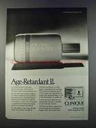 1981 Clinique Oil-Free Sun Block Ad - Age-Retardant II