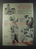 1981 Elizabeth Arden Millenium face treatment Ad