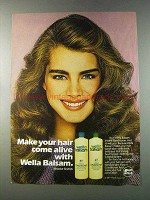 1981 Wella Balsam Conditioner Ad - Brooke Shields