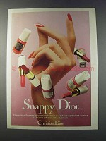 1981 Christian Dior Makeup Ad - Snappy. Dior