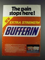 1981 Bufferin Medicine Ad - The Pain Stops Here