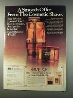 1981 Schick Personal Touch Razor Ad - A Smooth Offer