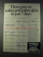 1981 Dove Soap Ad - Softer, Smoother Skin in 7 Days