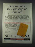 1981 Neutrogena soap Ad - Right For Your Face