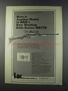 1981 Heckler & Koch HK770 Rifle Ad - Another Model