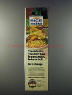 1981 Rice-A-Roni Chicken Flavor Ad - The Side Dish