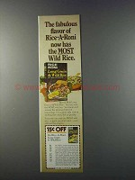 1981 Rice-A-Roni Long Grain & Wild Rice Ad - Fabulous