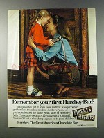 1981 Hershey's Milk Chocolate Bar Ad - Remember First