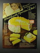 1981 Duncan Hines Cake Mix Ad - Lemon Cheese Bars