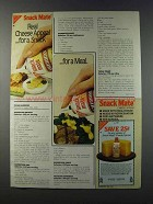 1981 Nabisco Snack Mate cheese Ad - Real Appeal