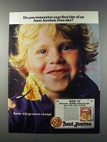 1981 Aunt Jemima Pancake Mix Ad - Your First Bite