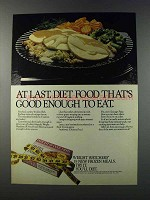1981 Weight Watchers Frozen Meals Ad - At Last