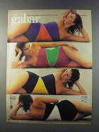 1981 Gabar Swimsuits Ad - Nothing Between You and World