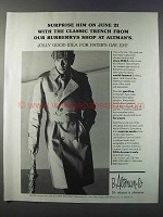 1981 Burberry Classic Trench Coat Ad - Surprise Him