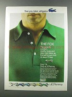1981 JCPenney The Fox Shirt Ad - Later, Alligator