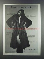 1981 Halston for Ben Kahn Furs Ad -How to Buy a Sable