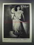 1981 Chloe Paris Fashion Ad