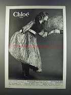 1981 Chloe Women's Fashion Advertisement