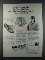 1981 Lands' End Ad - Sperry Top-Sider Moc, Knit Shirt