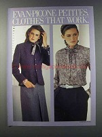 1981 Evan-Picone Petites Fashion Ad - Clothes Work