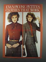 1981 Evan-Picone Petites Fashion Ad - Clothes That Work