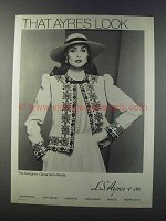 1981 L.S. Ayres & Co. Oscar de la Renta Fashion Ad