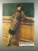 1981 Saint Laurent Fashion Ad - Rive Gauche