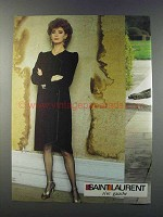 1981 Saint Laurent Fashion Advertisement - Rive Gauche