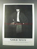 1981 Giorgio Armani Advertisement - Women's Fashion