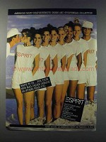 1981 Esprit Fashion Ad - Dress and Sportswear