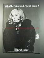 1981 Blackglama Mink Coat Ad - Greta Garbo