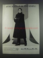 1981 Carl W. Hermann Fur Ad - Anne Klein Mink Coat