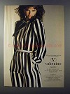 1981 Valentino Studio Silk Crepe de Chine Fashion Ad