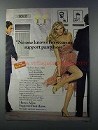 1981 Hanes Alive Support Pantyhose Ad - I'm Wearing