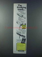 1981 Minwax Wood Finish Ad - The Finishing Touch