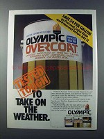 1981 Olympic Overcoat Paint Ad - Tested Tough