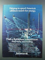 1981 Bethlehem Steel Ad - Offshore Search for Energy