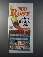 1981 True Value X-O Rust Red Metal Primer Ad