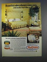 1981 True Value Sat-N-Hue Latex Flat Wall Finish Ad