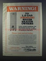 1981 A.O. Smith Water Heaters Ad - Warning