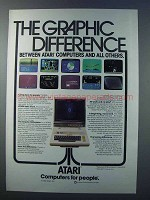 1981 Atari 800 Computer Ad - The Graphic Difference