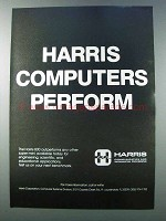 1981 Harris 800 Super-mini Computer Ad - Perform